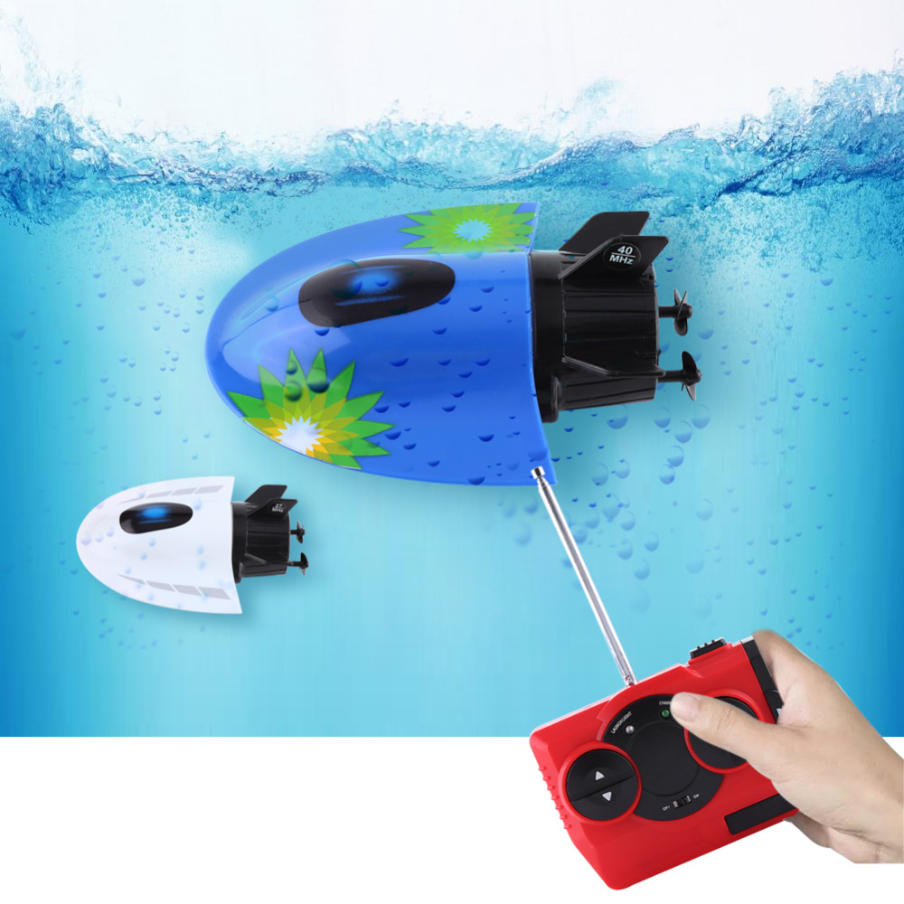 RC Submarine Mini Remote Control Underwater Sightseeing Boat Model Toy High Quality Underwater Motor RC Submarine Model Toy