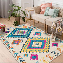 American Ethnic Retro Living Room Carpets Moroccans Geometric Area Rugs For Bedroom Hallway Entrance Runner Rug Sofa Mat(China)
