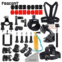 FeoconT For Gopro Hero 6 Accessories Kits Straps Mounts Sticker 3M Go Pro 4 For GoPro 5 Hero Session Yi 4K Accesorios Go Pro