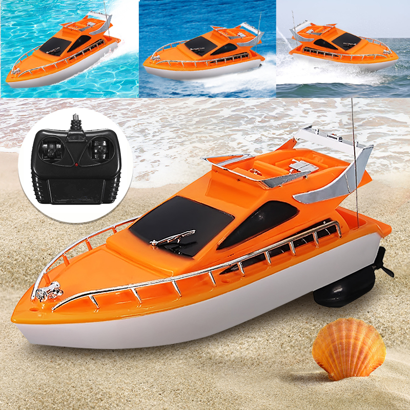 Electric Remote Control Boats 40MHz Super Mini Speed 4 Channels RC Boat Ship New