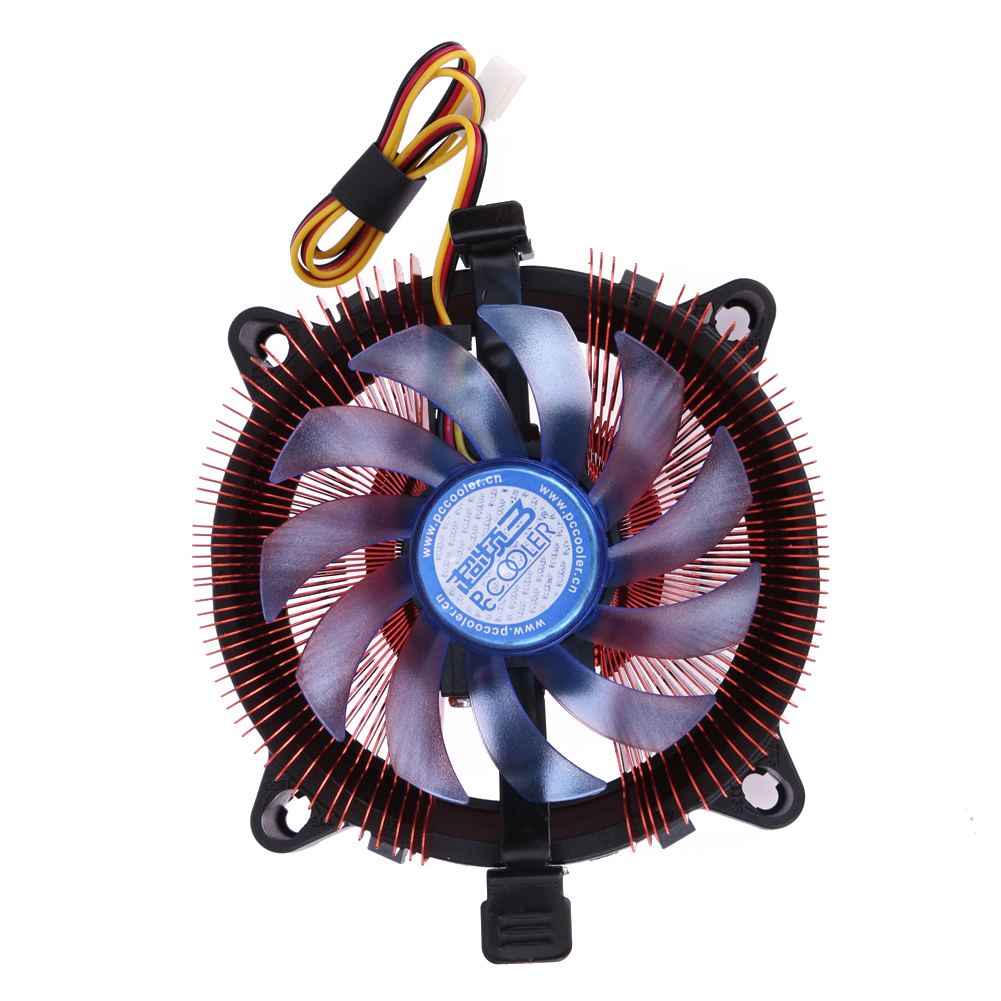 Quiet Super Speed Cooler Cooling Fan Heatsink Rad CPU Cooler For Intel LGA 775/115X AMD AM2/75 with Installation Bracket sexy princess dress uniform red yellow blue free size