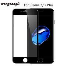 лучшая цена Wangcangli 3d tempered glass for iphone 6 7 8plus glass full coverage glass for iphone 6 X screen protector 4d glass apple acces