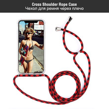 Crossbody Strap Phone Case For iPhone 7 6 6s 8 Plus 5S XS MAX XR X With Lanyard Necklace Shoulder Neck Rope 6S 5s