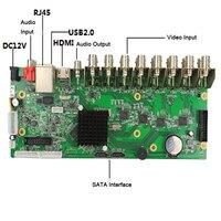Seculink 4CH 8CH 16CH CCTV DVR PCB Board AHD 5 in 1 Hybrid Recorder 1080N Mainboard PAL/NTSC Hisilicon Chip Mobile APP