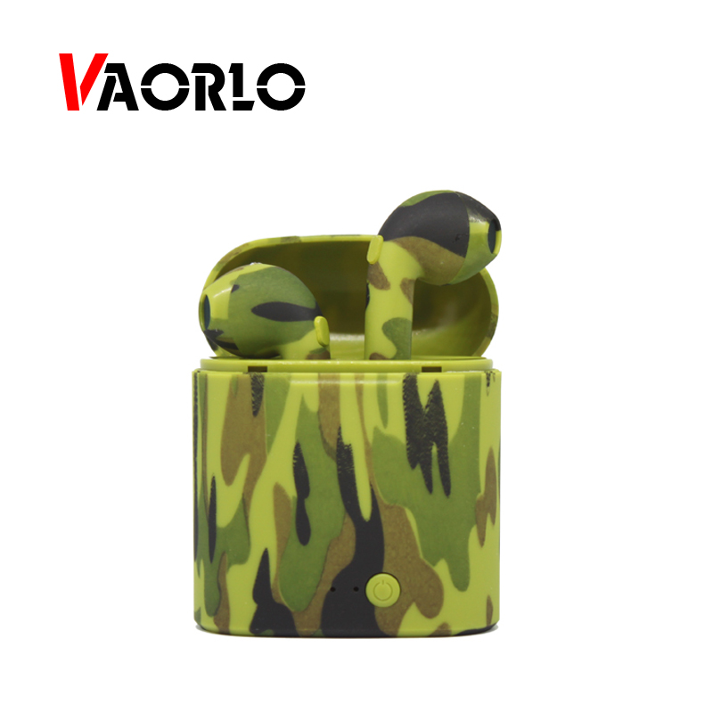 VAORLO TWS Bluetooth Earphone Mini Wireless Headphone Charging Box Double Twins Stereo Sport Music Headset for Mobile Phone IOS