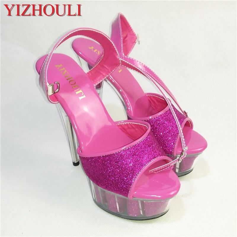 ≧Модные босоножки на высоком каблуке 15 см женская обувь ...