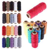 10Pcs 50Meters Multicolor Sewing Thread Polyester Cord Waxed Thread for DIY Tool Hand Stitching Thread