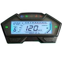 Samdo Универсальный ЖК-измеритель скорости мотоцикла одометр скорость оборотов в минуту датчик топлива 199 км/ч DIY измеритель скорости
