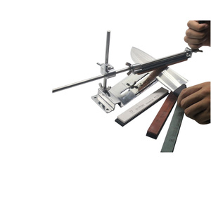 Image 3 - Aggiornato Fisso angolo Per Affilare I Coltelli Kit Full Metal In Acciaio Inox coltello slicker whetstone + Professionale 4 Affilatura Pietre