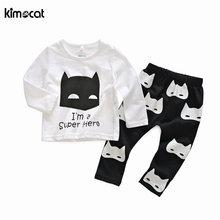 Kimocat одежда для маленьких девочек с длинным рукавом новорожденных