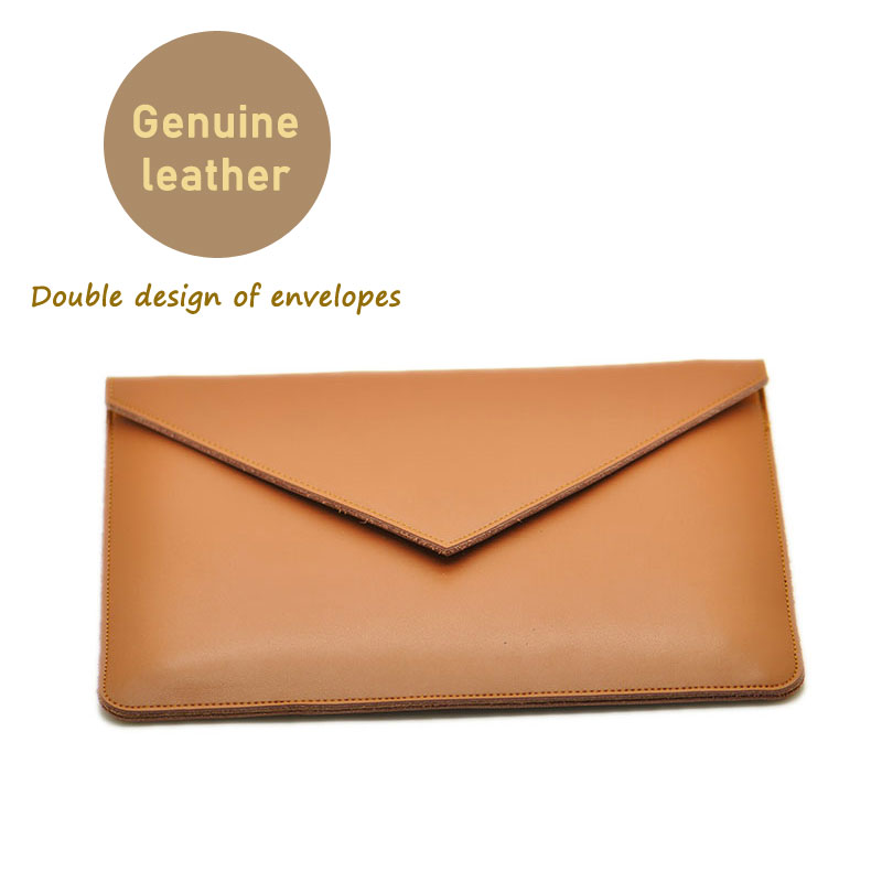 Envelope Laptop Bag super slim sleeve pouch cover Genuine leather laptop sleeve case for Lenovo ThinkPad