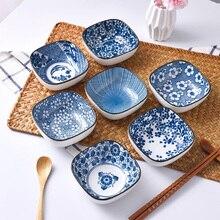 Подглазурная цветная японская керамическая посуда маленькая чаша домашнее блюдо уксус блюдо соевый соус вкус блюдо тарелка для приправы, соуса
