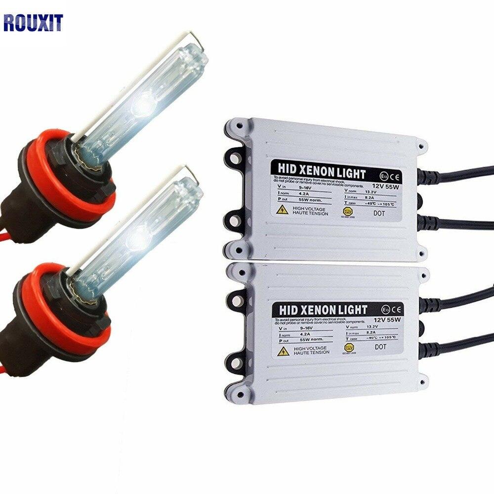H1 H3 H4 H11 H7 xénon HID Kit de Conversion 12 V 55 W AC 4300 K 6000 K 8000 K 10000 K 12000 K HID Kit xénon pour Auto voiture phares ampoules
