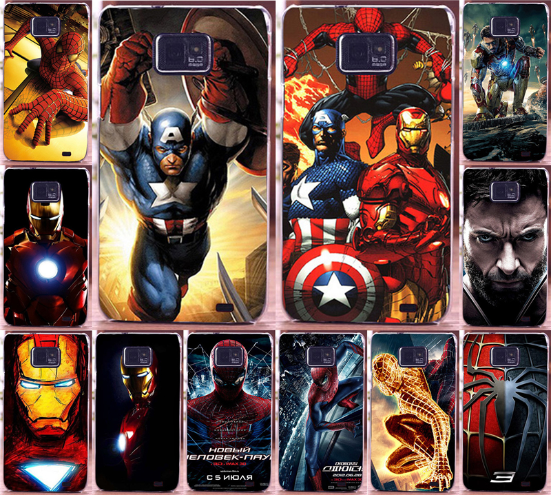 Painted Superman Spider man Cool movie characters Piece PC phone case For Samsung Galaxy S2 SII i9100 case back cover skin shell ...
