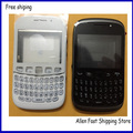Original For BlackBerry Curve 9320 Housing Cover Case +Keypad +Front Lens +LOGO , Free Shipping