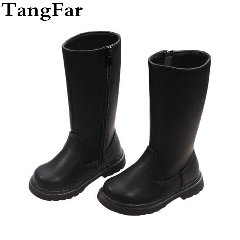 Children's Knee-high Genuine Leather Boots Waterproof Military Training Rubber Boot For Boy High Quality Breathable Botas