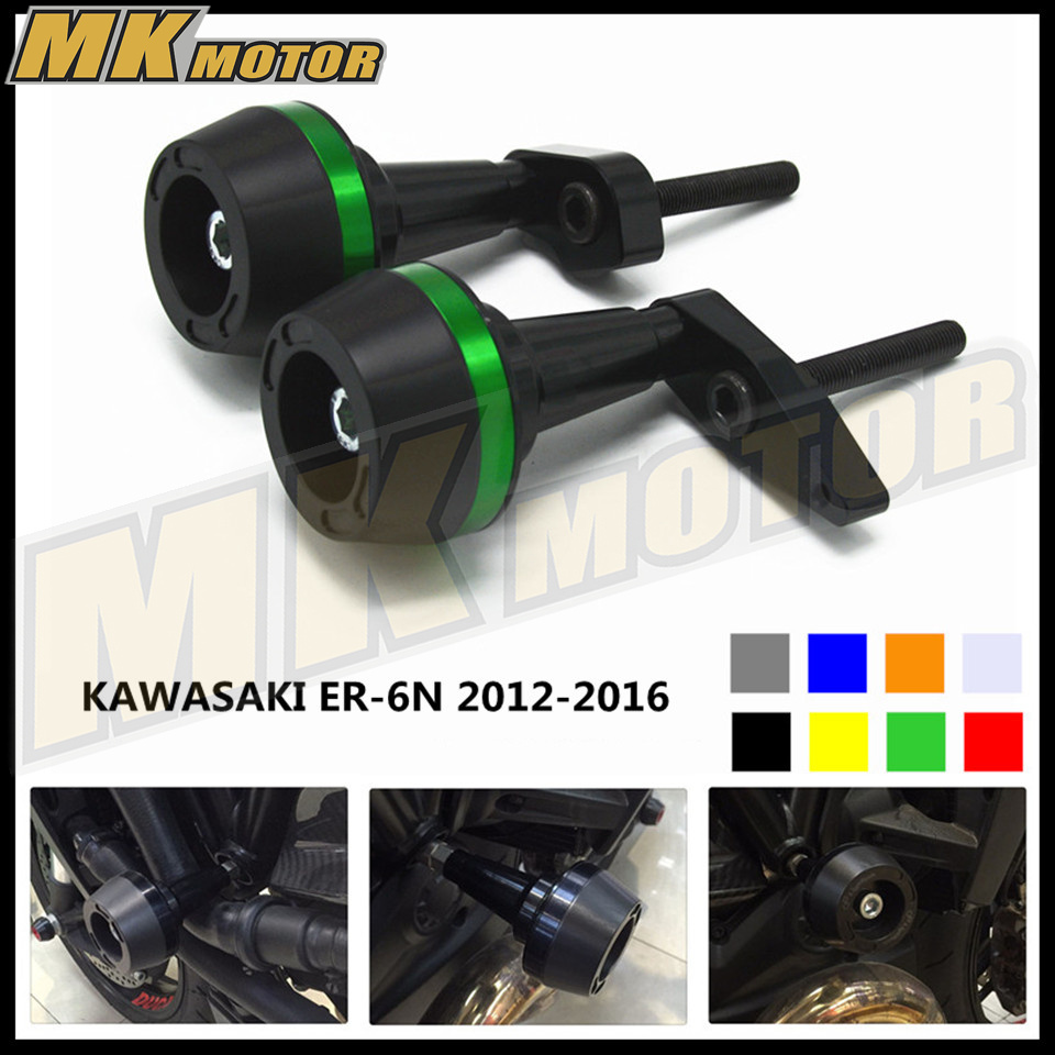 Motorcycle Frame Crash Pads Engine Case Sliders Protector For Kawasaki ER-6N ER6N ER 6N 2012 2013 2014 2015 2016 cnc aluminum motorcycle adjustable rearset rear set foot pegs pedal footrest for kawasaki ninja 650 ex650 er 6n er 6f 2012 2016