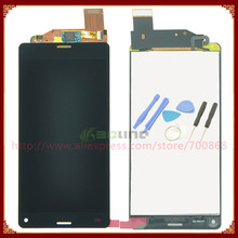 Aaa calidad de la pantalla lcd + pantalla táctil digitalizador asamblea para sony xperia z3 compact z3 mini lcd negro/blanco + herramientas
