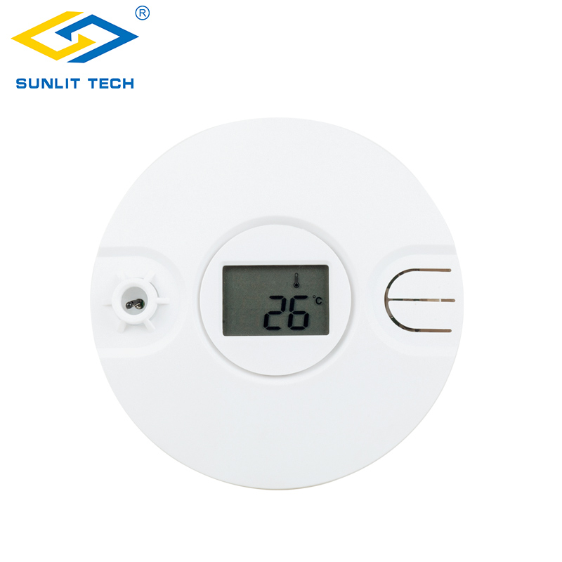 Smoke Detector Honey Wireless Smoke Thermal Sensor Alarm System For 433mhz/868mhz Home Fire Heat Thermal Sensor Detector Protection Office Security Low Price