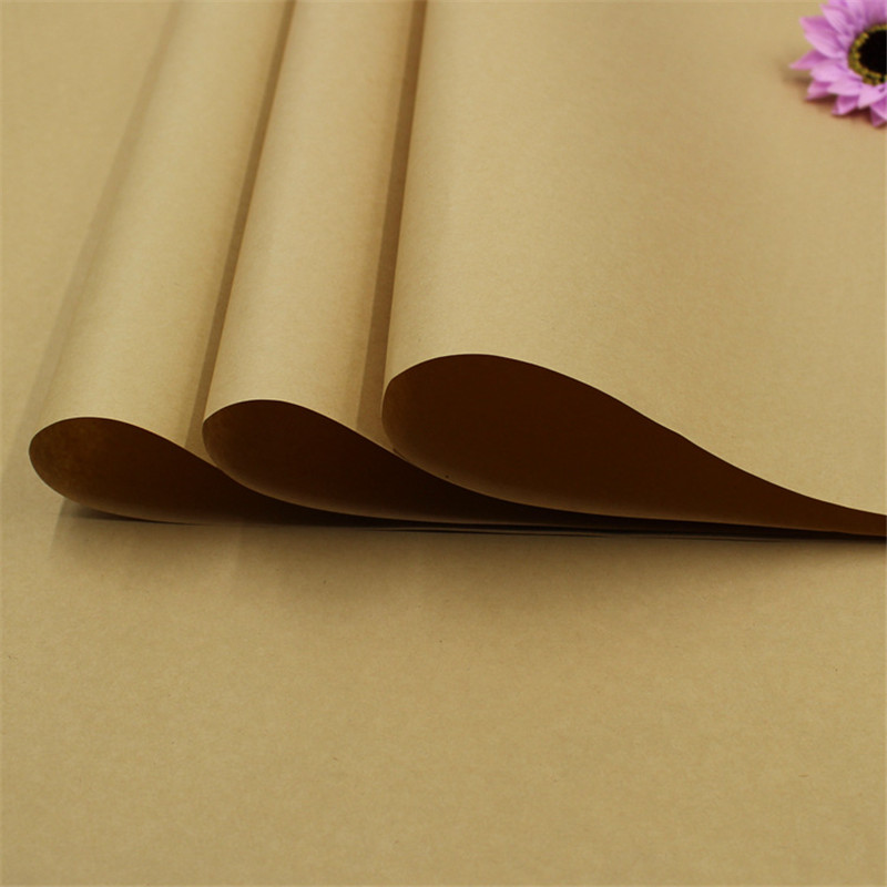 2017 20pcs/lot Kraft Gift 76*52.5cm Solid Brown Colour Kraft Wrapping Papers Large Background Paper Top Quality