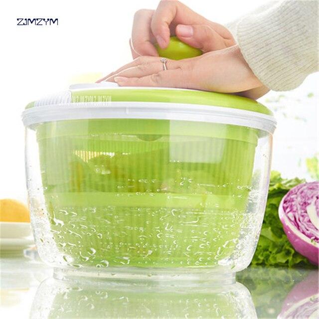Amazing Home Salad Dehydrator Wash Vegetables Fruit To Water Drain Basket Creative  Kitchen Supplies Dryer HK