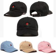 Сотни Роза Вышитые Hat Бейсболка Мода Уникальный Регулируемый Вышитые Розы Шляпы