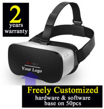 1PCS Customized 2 years warranty Smart 3D virtual reality all in one VR headset H8 Octacore 2GB/16GB Android4.4 Wifi Bluetooth