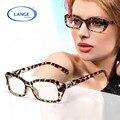 Леопардовый очки Женщин близорукости очки кадр украшение глаза окно кристалл Моды