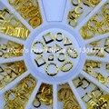 2017 НОВЫЙ 6 формы 3d золото металл ногтей украшения циркуляр рамка колеса ногтей аксессуары поставок маникюр инструменты дизайна