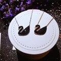 Большой Европейской и Американской моды Крышка Черный Лебедь ожерелье с 925 серебряный ключицы micro высокого класса ювелирные изделия оптом