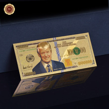 The United States 45th President Donald J Trump Commemorative Gold Banknote US 1 Million Dollars Gold