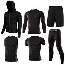 De compresión de los hombres ropa deportiva traje de correr para hombres  Jogging entrenamiento deportes ropa 3f9789ca51ae8