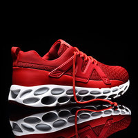 MWY Men Shoes Lightweight Sneakers Men Breathable Lace Up Men Shoes Casual Chaussures Hommes Height Increasing trainers Men