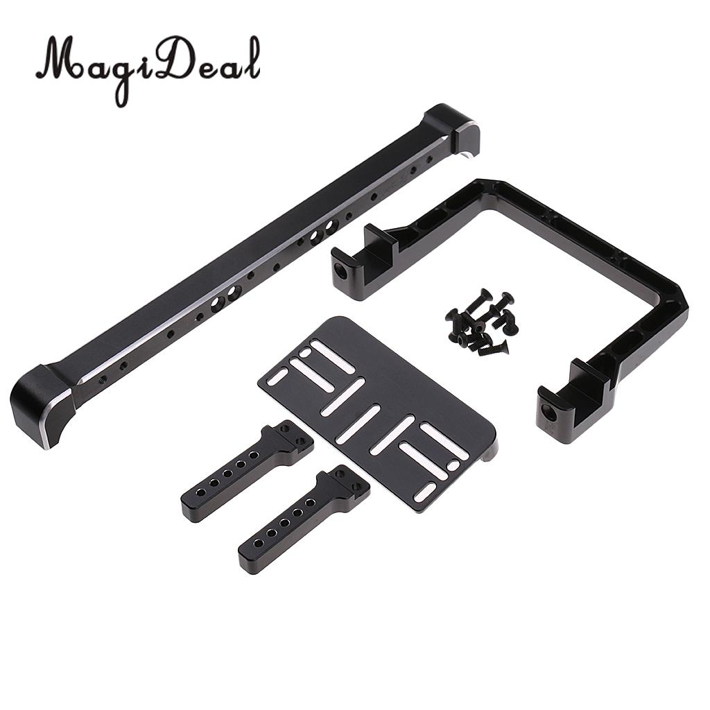 MagiDeal Professional 1Set Metal 1:10 Front Bumper Device for Traxxas TRX-4 TRX 4 RC Crawler Parts classic trx4 metal front bumper for 1 10 rc crawler traxxas trx 4 trx 4