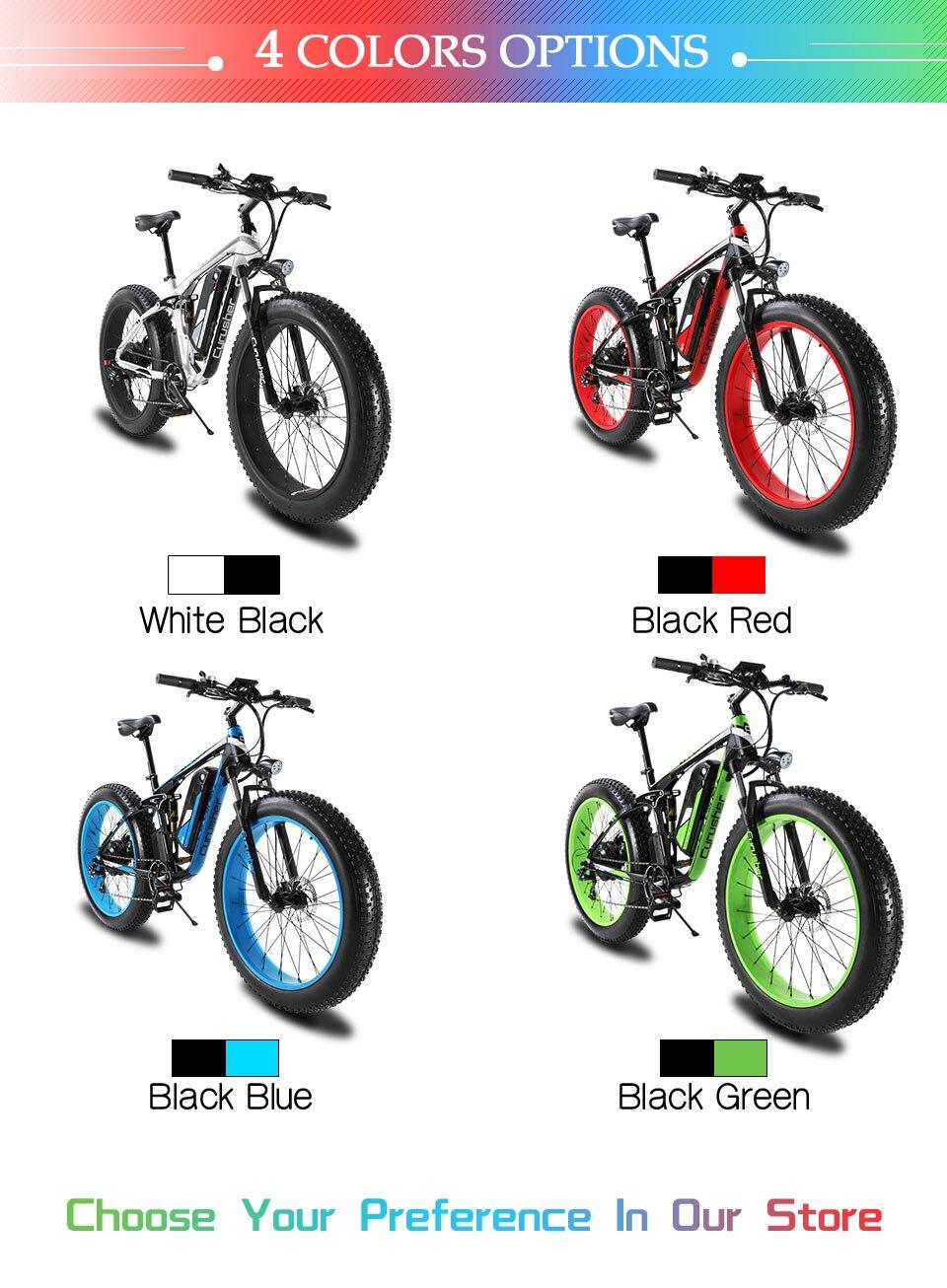 HTB1Ns7LM7voK1RjSZFwq6AiCFXaN - Cyrusher XF800 1000W 48V Electrical Bike Full Suspension body 7 Speeds widewheel highway Bike out of doors sensible speedometer Ebike