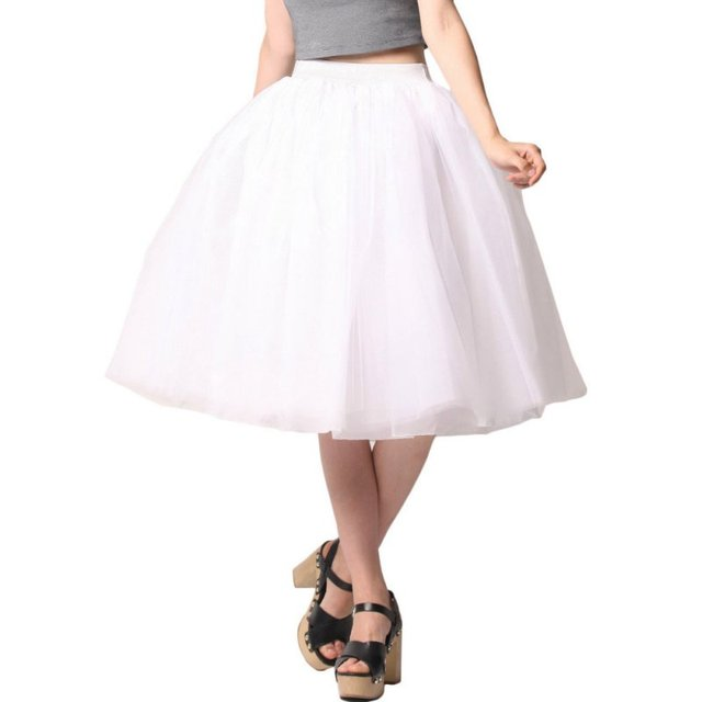 191b7b17d3 US $6.6 |2017 Large Size Women Chiffon Tulle Skirt White High Waist Midi  Knee Length Female Tutu Puff Skirts -in Skirts from Women's Clothing on ...