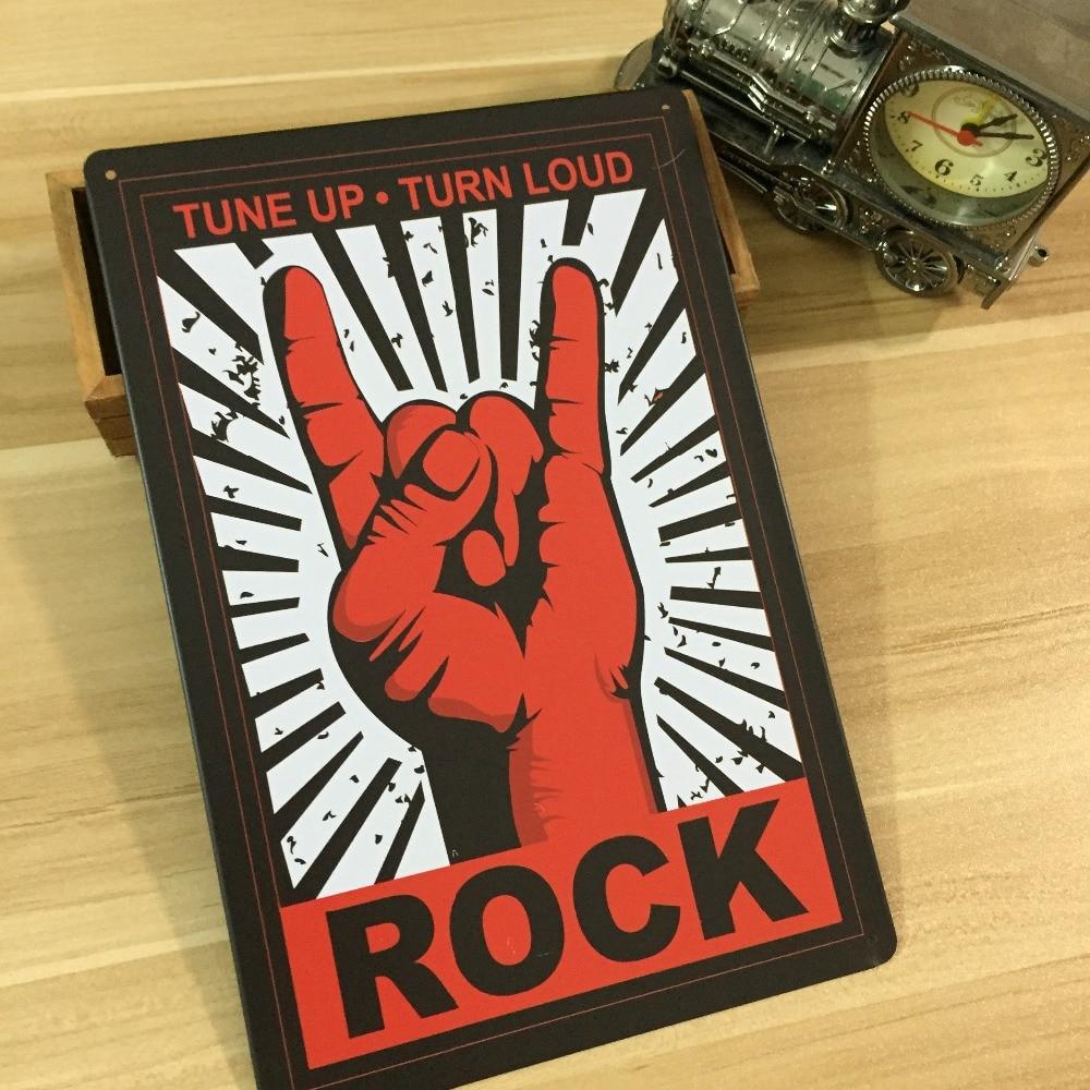 new arrival rock music tin signs retro decoration house cafe bar vintage metal plaque. Black Bedroom Furniture Sets. Home Design Ideas