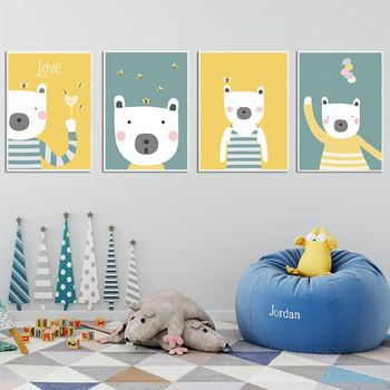 Cute Cartoon Animal Canvas - Children Baby Bedroom