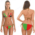 Green Red Mario Brothers Bikinis Sets Contrast Color Mini Swimsuit Sexy Strapless Bikini Set Push Up Swimwear Feminino