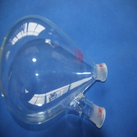 2000ml (2Litre) Recovery Flask, Rotary Evaporator Flask, 2 neck , heavy wall, 24/29 joint
