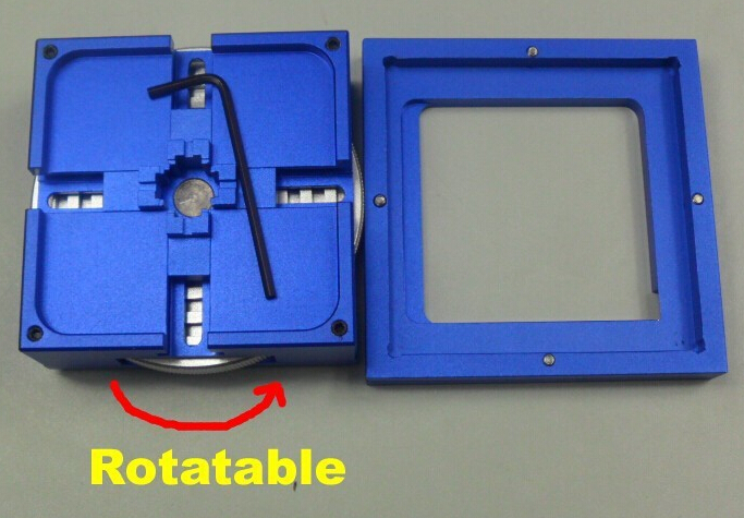 цена на LY RD-90 Rotary BGA reballing station auto locking adjustment 90*90mm BGA stencil holder