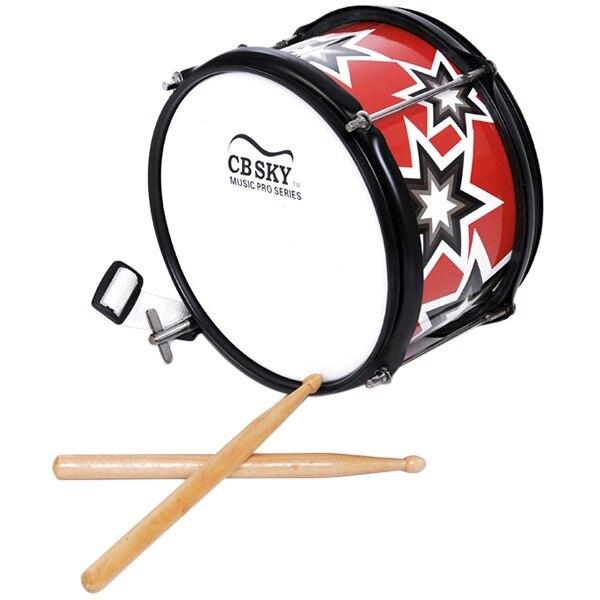 SLADE SLADE caisse claire acier inoxydable caisse claire Instrument de musique avec clé à sangle bâton de tambour ensemble d'autocollants muet