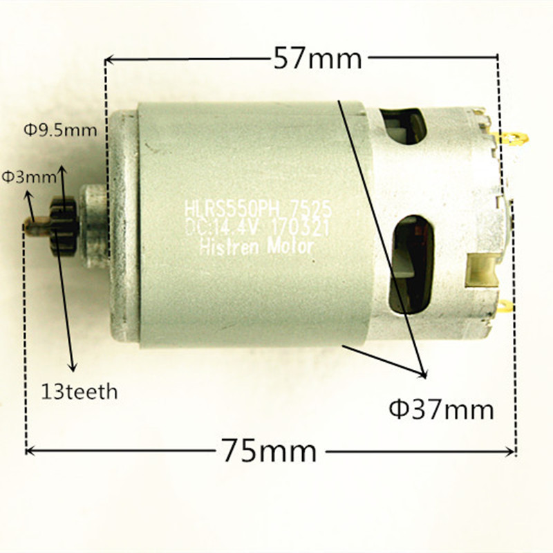 13Teeth 13 Teeth Motor 14.4V Replace for BOSCH GSR14.4-2-LI PSR14.4LI-2 2 609 199 253 PSR1440LI-2 PSB1440LI-2 Drill motor engine for bosch gsr 12v gli 12v ahs gsb gsr psr 12 12ve battery 1 5ah ni cd bat043 bat045 bat046 bat049 bat120 bat139 26073 35555