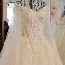 Walk Beside You Champagne White Wedding Dresses vestido de noiva Plus Size Ball Gown Luxury Lace Appliques Cathedral Train Bride цена и фото