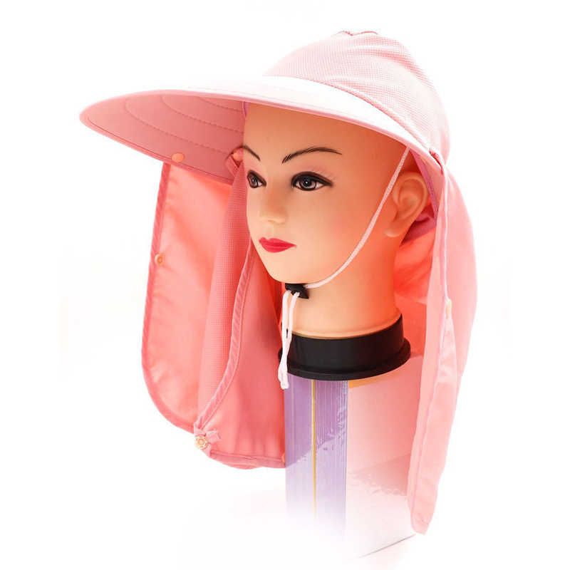 f702641711a23 ... Sun Hats Women Summer Fashion UV Protection Face Neck Flap Cap Men  Outdoor Sunbonnet Full Mask