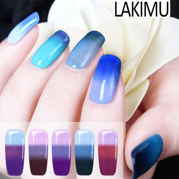 Lakimu 24 Colors Temperature Change UV Gel Nail Polish Top Selling Product In 2018 Hybrid Nail Art UV Gel Varnishes Gelpolish