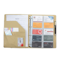 600 Cards Large Campacity Business Namecard Book Name Cards Storage Book Exterior Interior Black