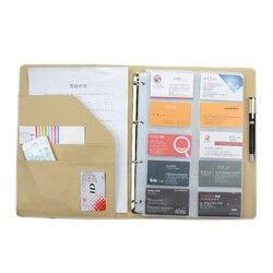 600 tarjetas grandes campacity business namecard book, nombre tarjetas almacenamiento libro (exterior e interior negro)