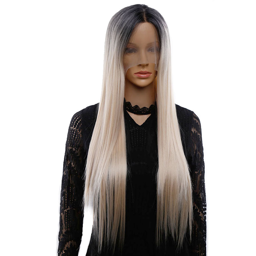 Amir Synthetic Lace Front Wig Ombre Wig Synthetic Straight Hair Wig Lace Wigs For Women Cosplay