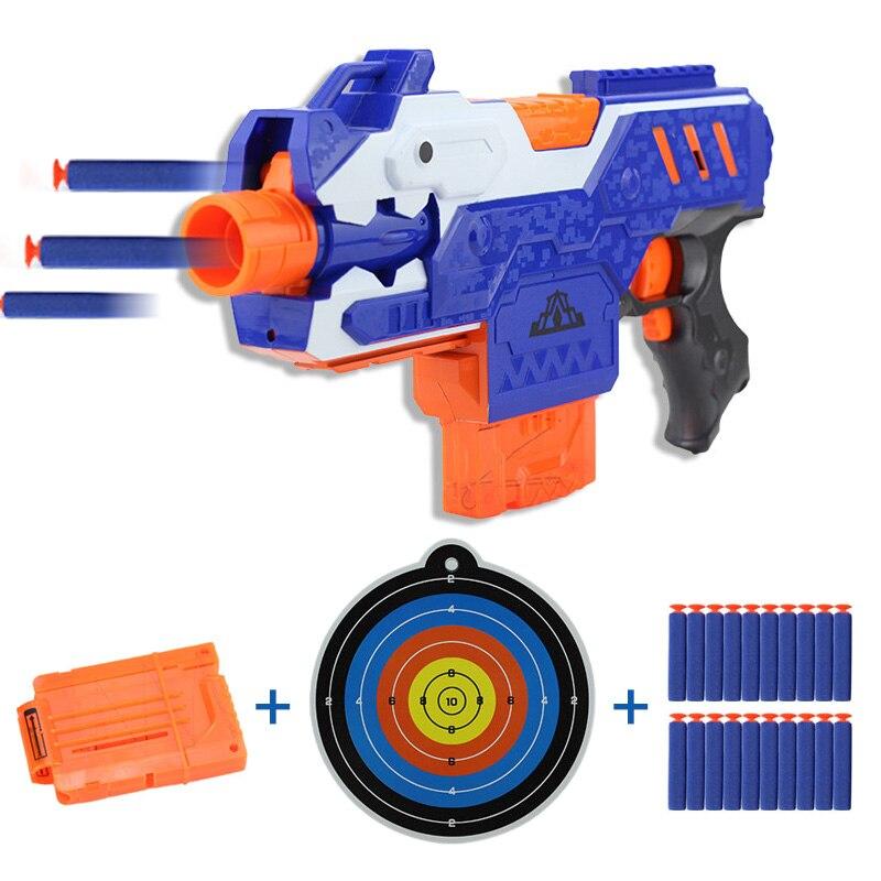 Pistola de juguete de pistola de Gel con 20 piezas balas y pinza de pistola de dardos para pistola de niños de la serie Nerf pistola de juguete